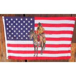 DRAPEAUX HORSE AND INDIAN
