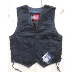 GILET CUIR BUFFLE LAST REBELS