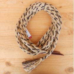 MECATE SOLID BRAID ROPE WEAVER LEATHER (2 coloris)