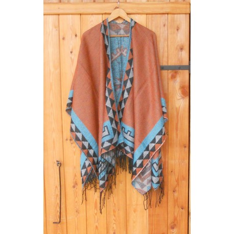 "PONCHO ""INDIAN TERRACOTTA"""