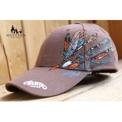 CASQUETTE FEATHERED WEAVER LEATHER
