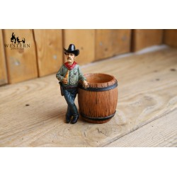 Pot à crayon cowboy