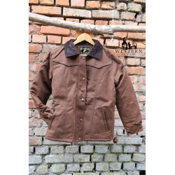 WOMENS RANCH COAT  CHOCOLATE WYOMING TRADERS