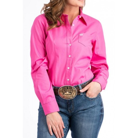CHEMISE CINCH FEMME SOLID PINK
