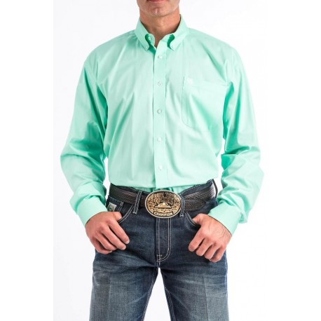 CHEMISE CINCH HOMME SOLID TURQUOISE