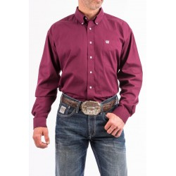CHEMISE CINCH HOMME SOLID BURGUNDY